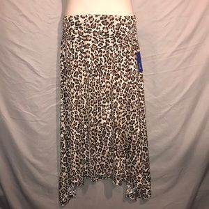Sexy flowy leopard print skirt ruched waist XXL